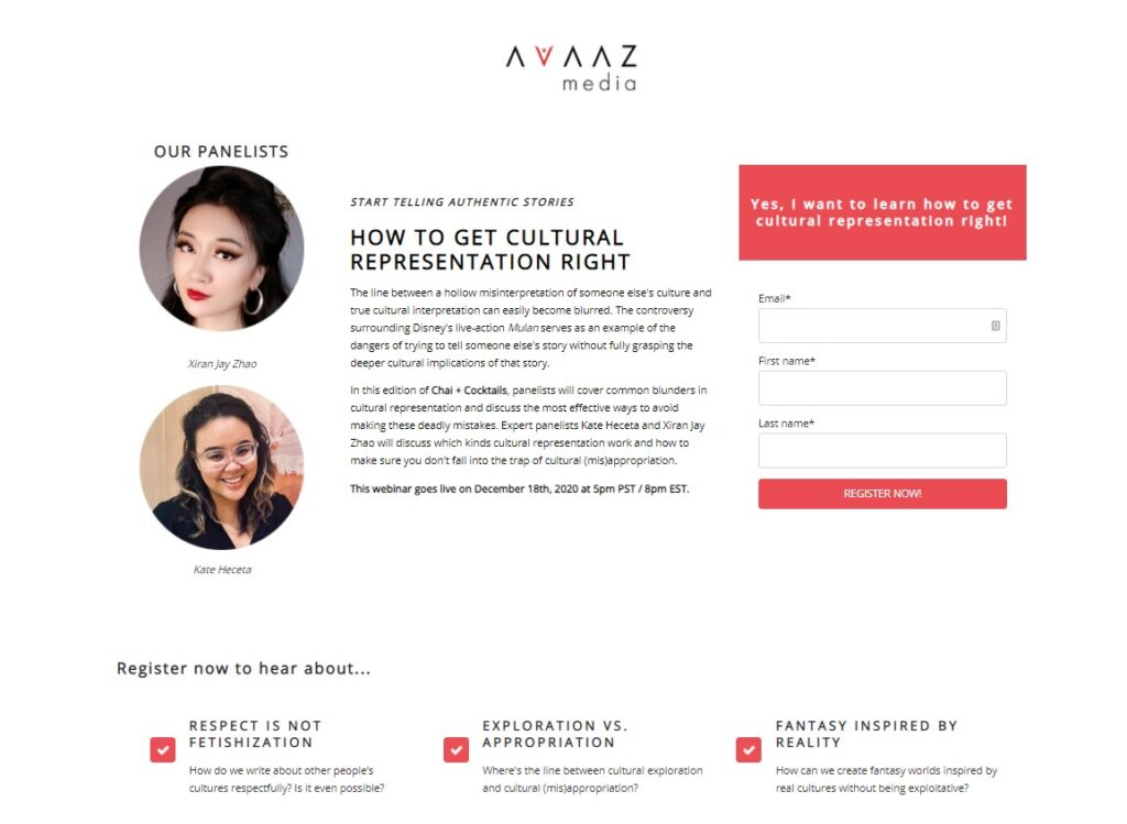 landing page designed and written by mariana santiago